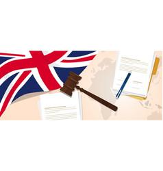 uk united kingdom england britain law constitution vector image
