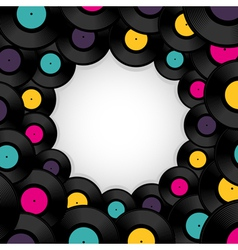Vinyl record background with space for text vector image vector image