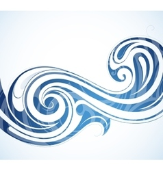 Water theme backdrop vector image vector image