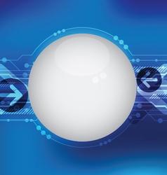 blue hi tech line background vector image vector image