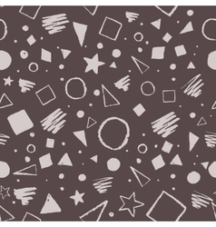 Dark monochrome geometric pattern vector image vector image