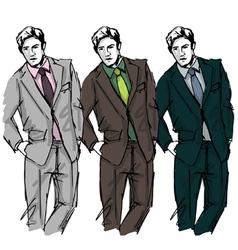 Fashion man vector image