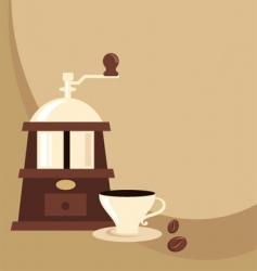 coffee mill background vector image vector image