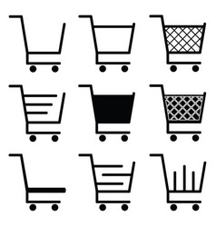 collection of shopping cart icons vector image