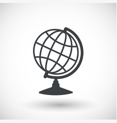 earth globe model flat icon vector image vector image