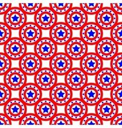 Stars and circles seamless pattern 1905 vector image