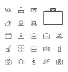 22 suitcase icons vector