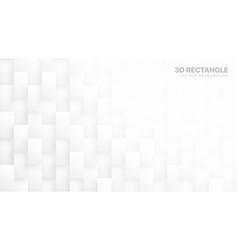 3d rectangle blocks conceptual tech white vector