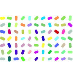 Abstract colored oval mixed shape pattern art vector