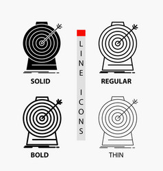 aim focus goal target targeting icon in thin vector image