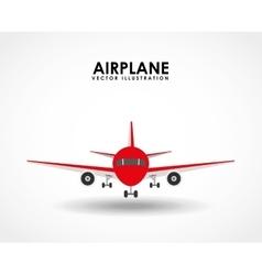 Airplane travel vector