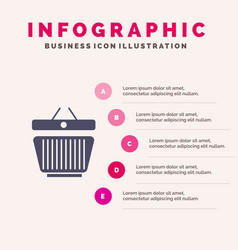basket retail shopping cart infographics vector image