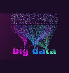 Big data visualization network futuristic vector