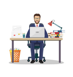 Business man entrepreneur vector