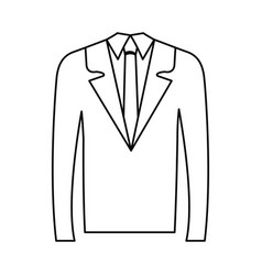 Businessman suit isolated icon vector