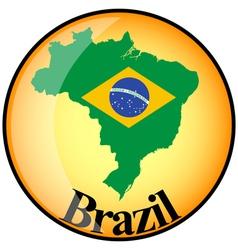 button Brazil vector image