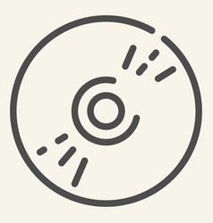 cd disc line icon data vector image