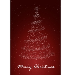 Chrismass tree red vector image