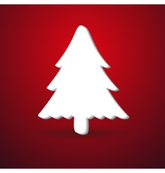 christmas winter tree modern paper like symbol on vector image