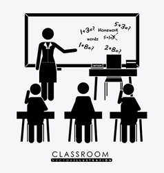 class room desing vector image