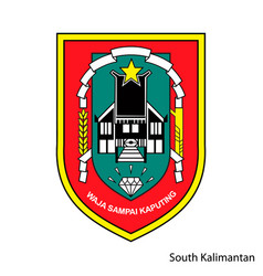Coat arms south kalimantan is a indonesian vector