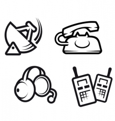 communication symbols vector image