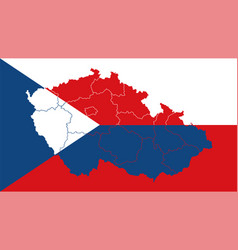 czech republic national flag with administrative vector image