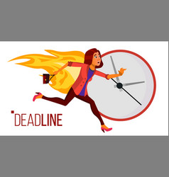 Deadline concept stressed office people vector