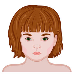 Face of a little girl vector