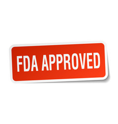 Fda approved square sticker on white vector