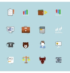 Finance exchange icons flat vector image