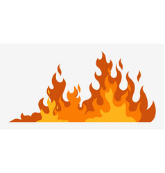 fire background hot red line fire danger of vector image