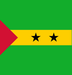 Flag in colors of sao tome and principe vector