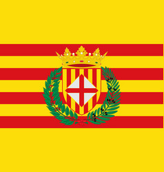 Flag of barcelona is a province of spain vector