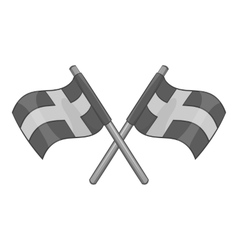 Flag of Sweden icon gray monochrome style vector