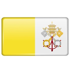 Flags vatican cityholy see in form a magnet vector