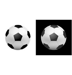 football ball icon in realistic style vector image