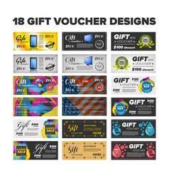 Gift vouchers set vector