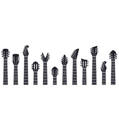 guitars headstock rock music guitar necks vector image