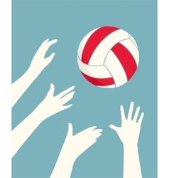 Hands Playing Volleyball vector