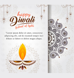 Happy diwali greeting card design vector