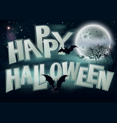 happy halloween background vector image