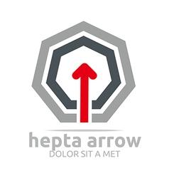 hepta arrow design element symbol icon vector image