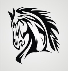 Horse Tattoo vector