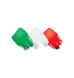 Italy flag on a white vector