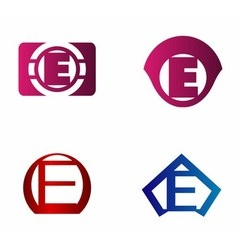 letter E logo template Abstract icon vector image