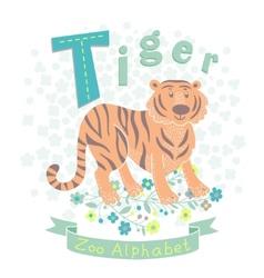 Letter T - Tiger vector