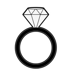luxury ring with diamond vector image