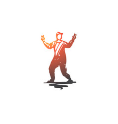man dancing young male attractive concept vector image