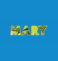 mary concept word art vector image